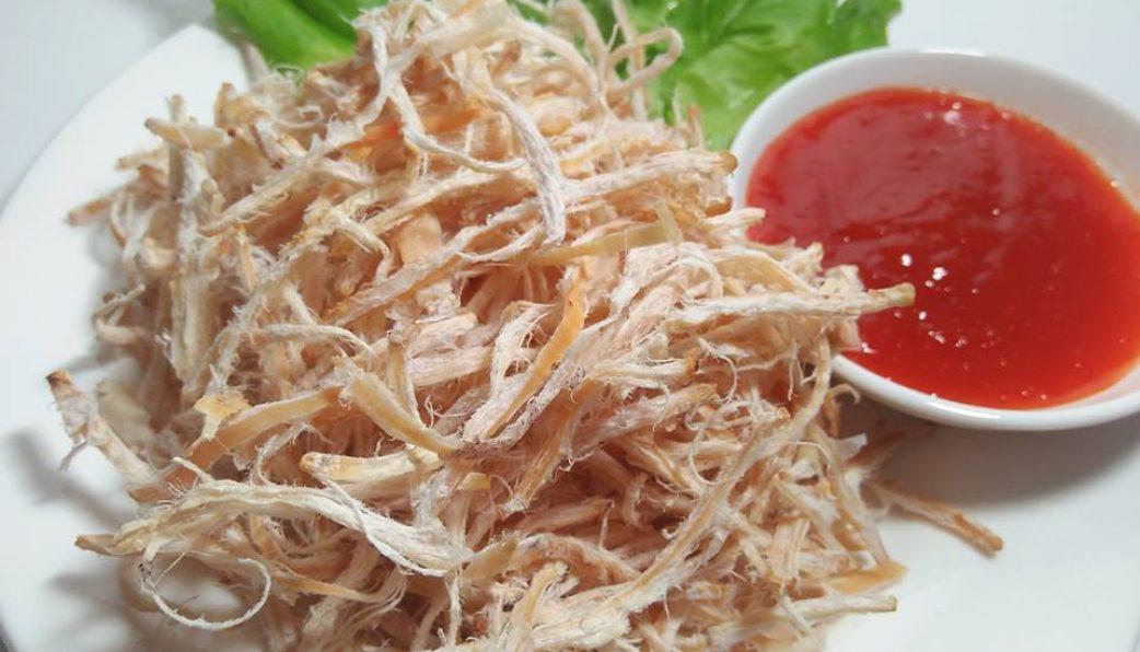 Khô mực câu nướng ăn rất ngọt thịt