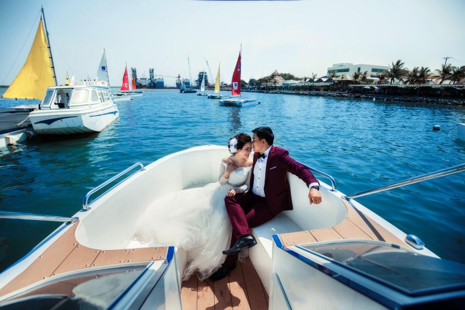 Bến du thuyền Marina Vũng Tàu là 1 trong những nơi của các cặp đôi chụp hình cưới